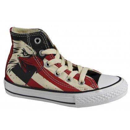 Converse Kinder Chucks Canvas Hi Fire Brick Black (Schuh)