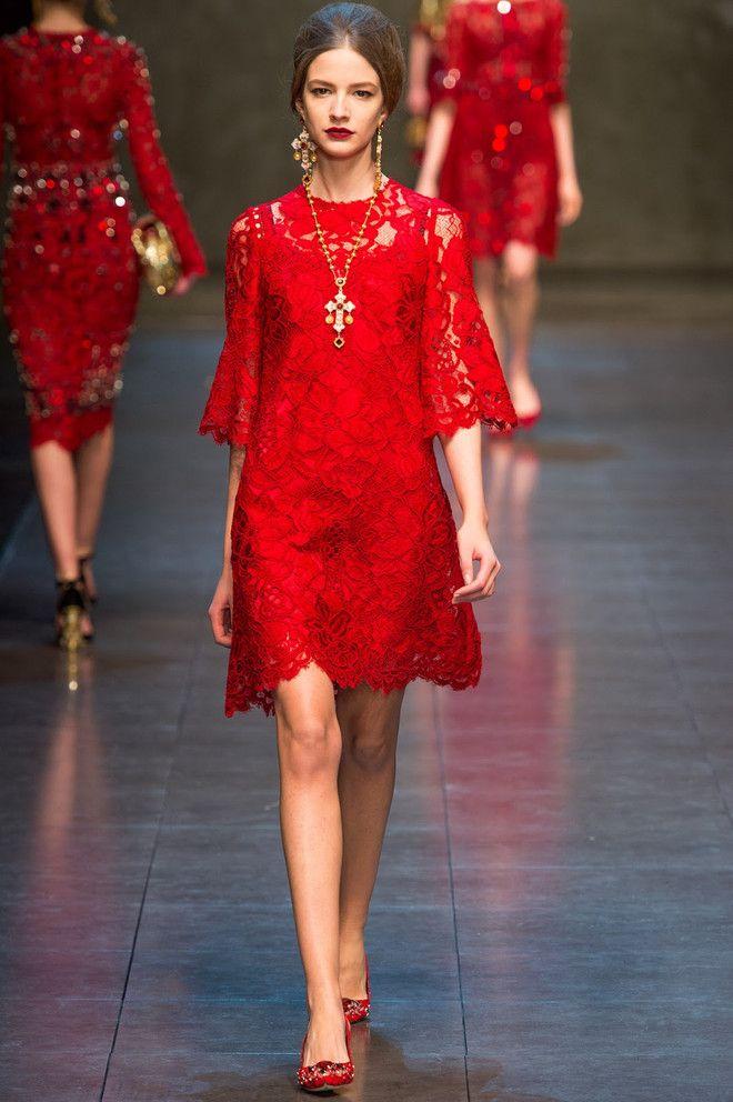 Красные платья Dolce & Gabbana осень-зима 2013/14 - AN* - Жемчужины моды