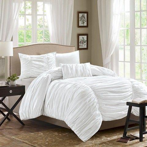 Pacifica Duvet Cover Set - White