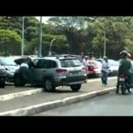 Angry Woman vs Bike  Road rage in Brazil.