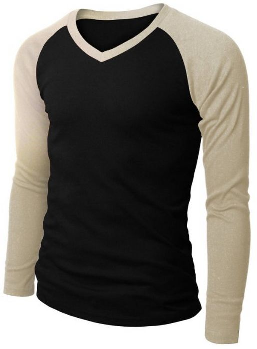 Doublju Mens Raglan V-Neck T-shirts Beige X-Large: Mens Casual Long Sleeve  Raglan Baseball V Neck T-shirts Basic Crew Grateful Calvin Klein XS # 5596  Youth