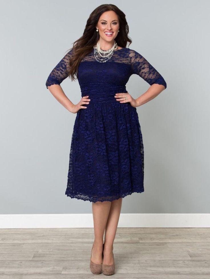 Scalloped Luna Dress $174.99 #Kiyonna, #LucyClothing, #plussize