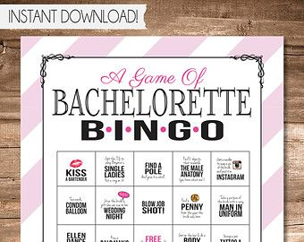 Bachelorette Party Game INSTANT DOWNLOAD by SweetBeeShoppe on Etsy