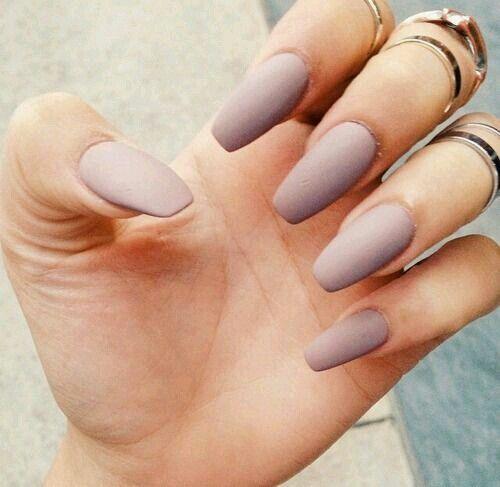 Tips On Blending Great Colors With Beige: Beige Matte Nails ..