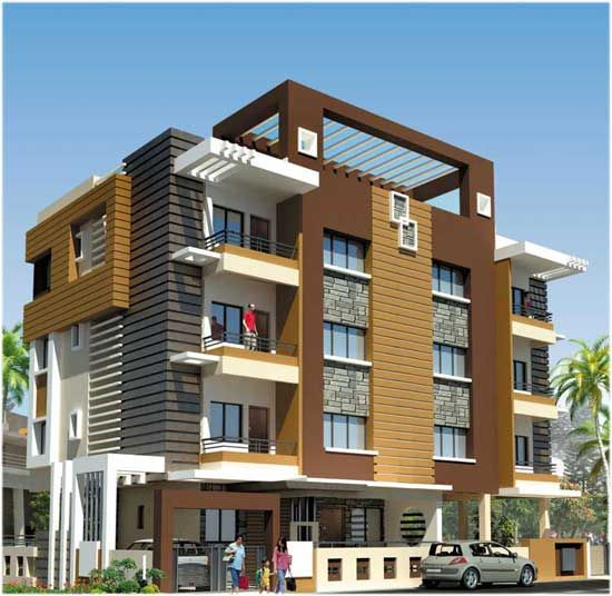 Apartement: Modern Apartment Building Elevations