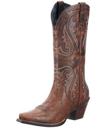 Women's Brown Cowboy Boots, Heritage Western X Toe by Ariat
