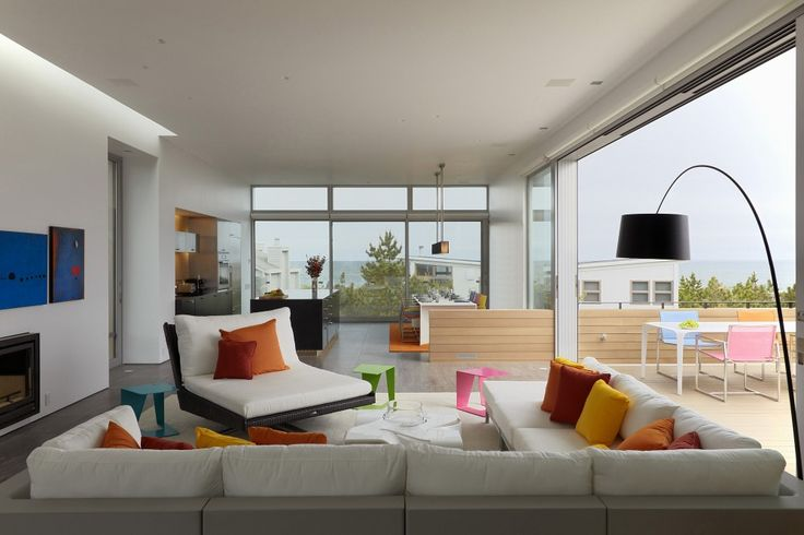Living Room Design of Beach Walk House by SPG Architects
