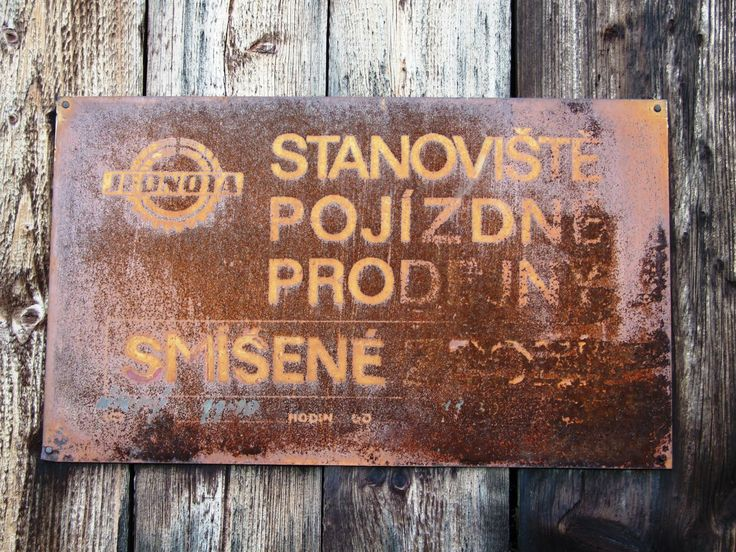 Stop for mobil shop bus from 70´s (distr. Klatovy, west Bohemia)