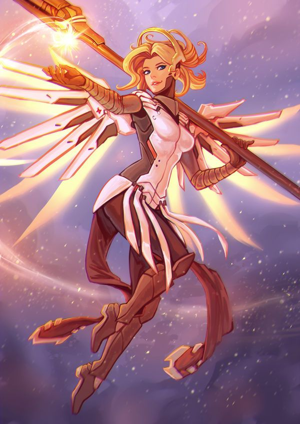 Mercy By Https Www Deviantart Com Moni158 On Deviantart Overwatch Wallpapers Overwatch Comic Overwatch Fan Art