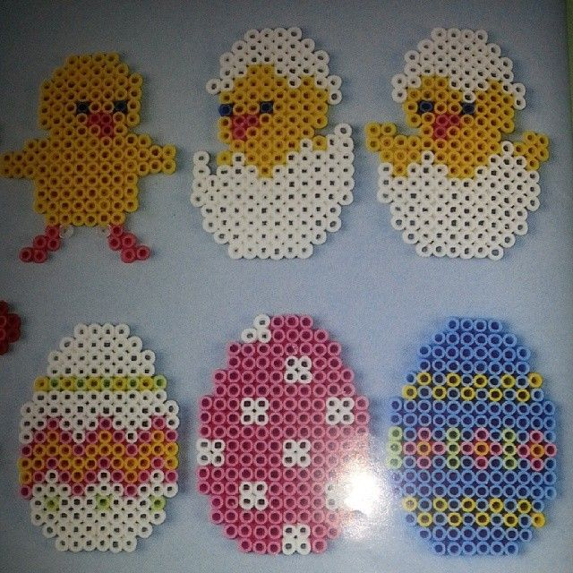 Easter ornaments hama beads by brittastorm