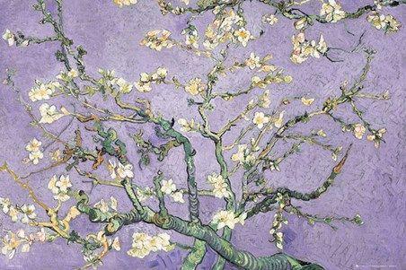 Purple Blossom Vincent Van Gogh #impressionism