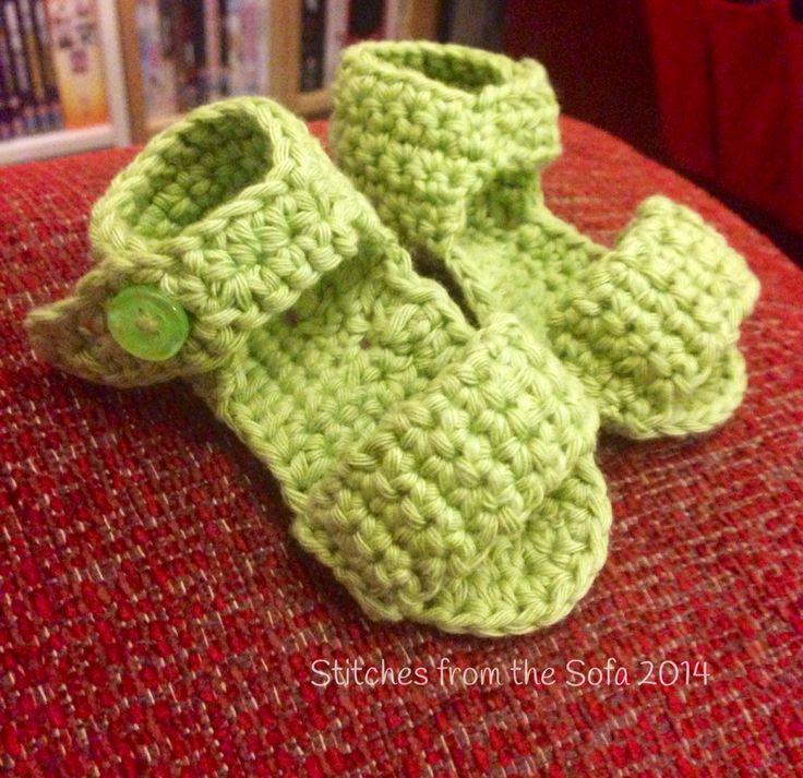 Handmade Crochet Baby Sandles 0-3 m