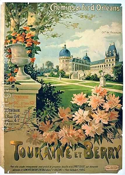 """Advertisement for """"Touraine et Berry"""", by Orleans Railway"""