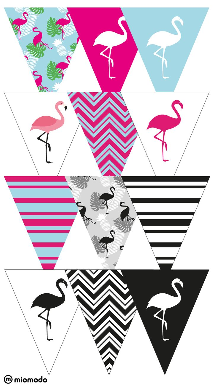 DIY Party Girlande #flamingo #partydeko #girlande www.miomodo.de/blog