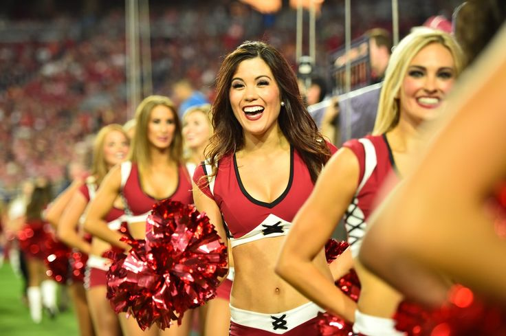 Images of the Cardinals cheerleaders during the preseason opener against the Chiefs.  #AZCardinals