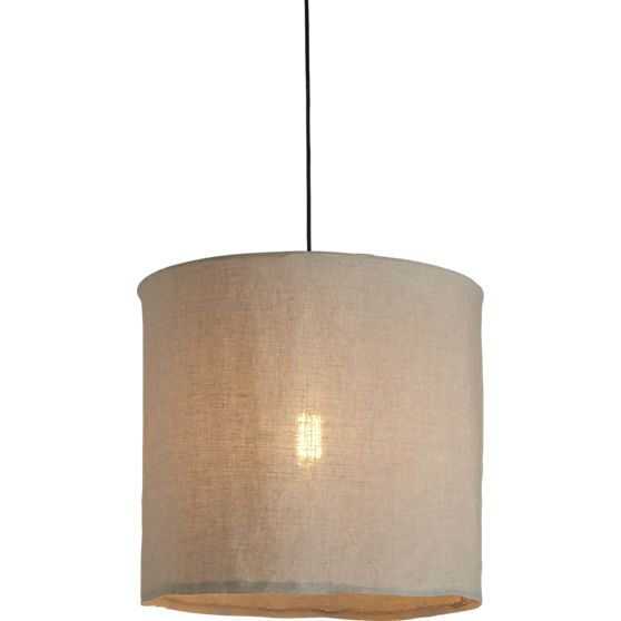 Opportunity to play with light bulb shapes as shows through linen fabric :)  linen pendant lamp - 43 Best Lighting Images On Pinterest Lighting Ideas, Lights And
