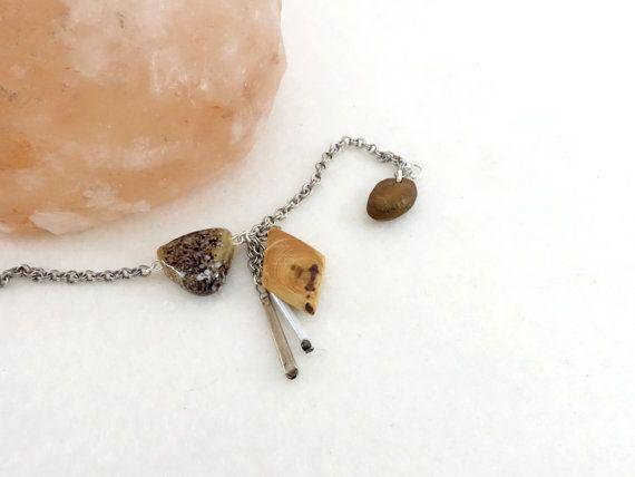 Bracelet breloques bois petites pièces de bois par LesBoisettes