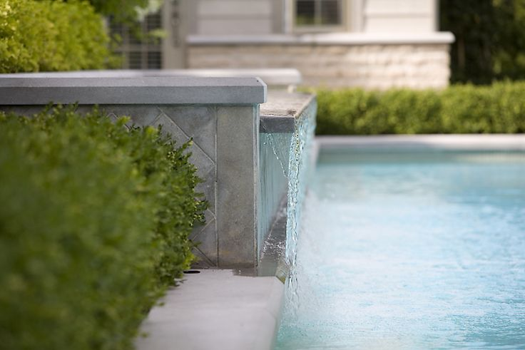#waterfall #pool #landscaping #hedges #homeimprovement #waterfeature #zen