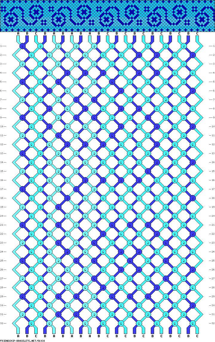 Yoyo frienship bracelet pattern.