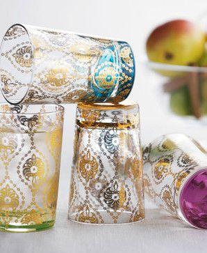 Four Moroccan Tea Glasses - mediterranean - glassware - Neiman Marcus