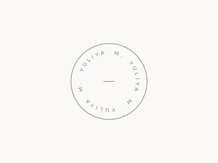 A simple, simple brand mark for a current project.