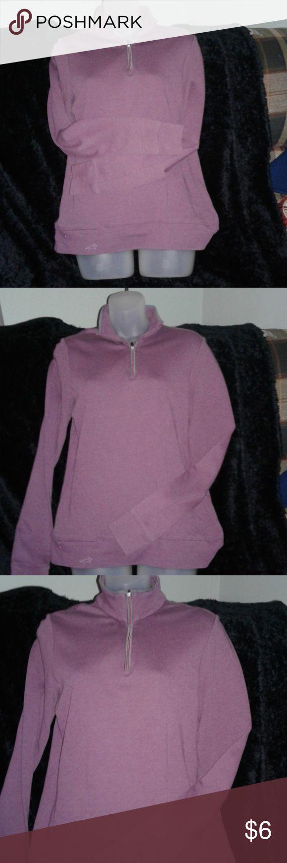 Women's Horney Toad long sleeve shirt Purple zip front shirt Horny Toad Tops