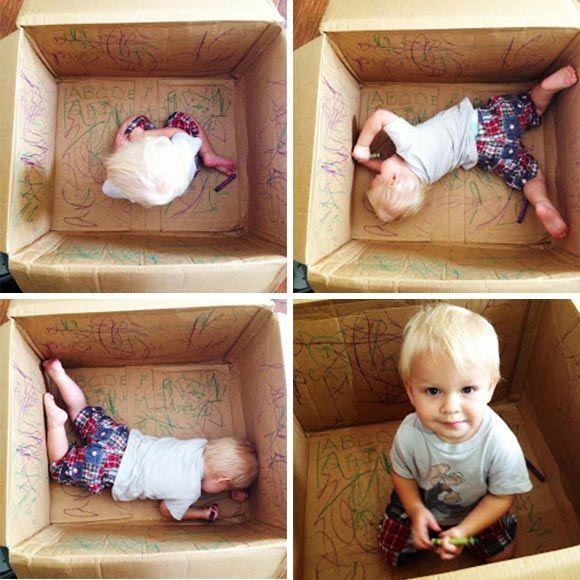 25 beste idee n over kartonnen doos op pinterest doos for Poppenhuis voor peuters