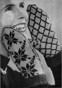 DIY Vintage 1950s Norwegian Mittens - FREE Knitting Pattern / Tutorial