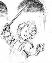 "Child Alvida, from web serialization of Angela Lott's ""Diff the Dragon"". Art by Richard Bartrop."