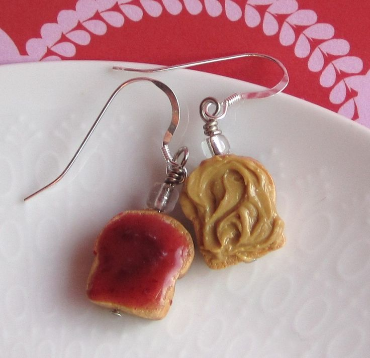 Peanut Butter and Jelly Earrings. $13.50, via Etsy.