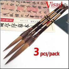 3 sztuk/paczka Chińskiej Kaligrafii Szczotki Pióro długi NIB medium regularne skrypt artysta malowanie kaligrafia brush(China (Mainland))