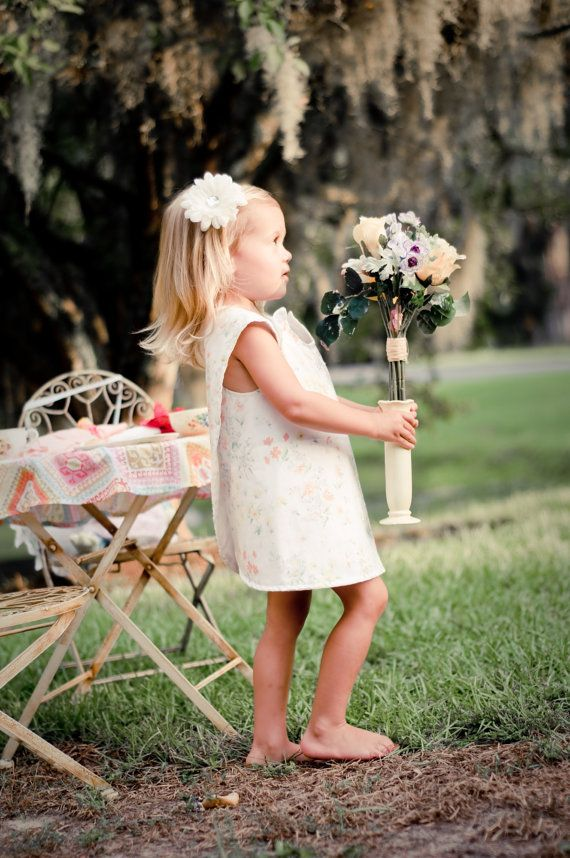 Wedding Tea party Garden Party Pinafore dress by WiseSewcialTies, $34