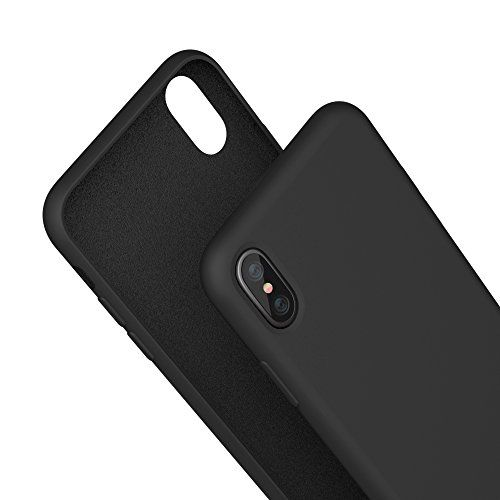 From 4.40 Iphone X Case Meanlove Silicone Gel Rubber Case With Soft Microfiber Cloth Lining Cushion For Iphone X(black)