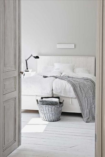 grey walls grey throw grey bedroom