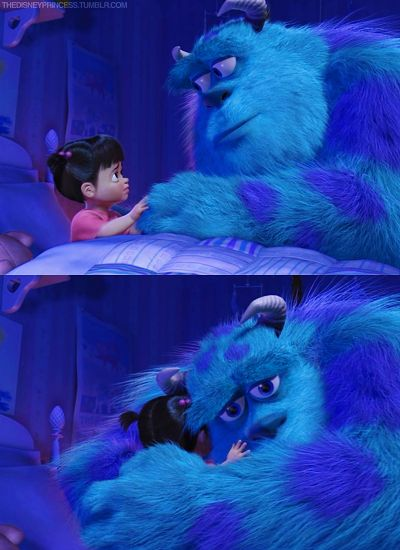 The interaction between Boo and Sully always makes me cry. Pixar so perfectly caught the special hug of a toddler…