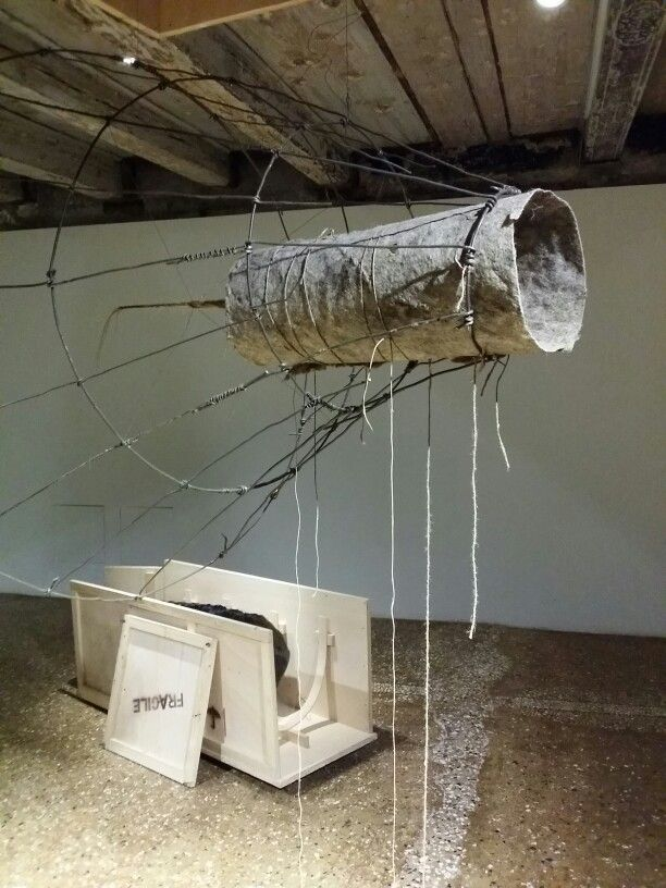 Installation  - horse hair, dung and ....