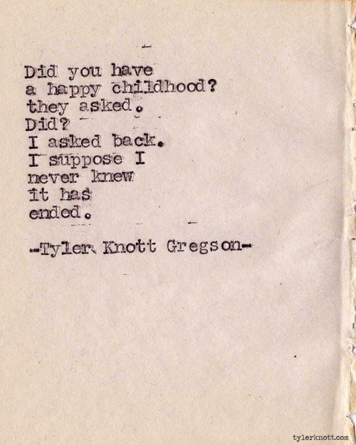 Typewriter Series #308 by Tyler Knott Gregson