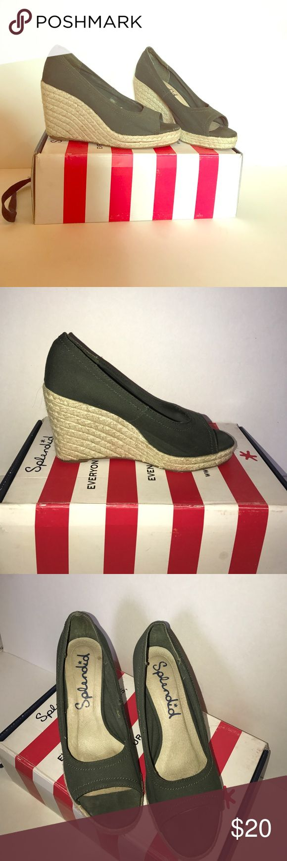 Splendid Espadrilles Gently used Splendid espadrilles perfect for summer! Barely worn, but does have a few spots (please see photos) so they are not perfect.  Price reflects imperfection (and no one will notice anyways!) Enjoy! Splendid Shoes Espadrilles