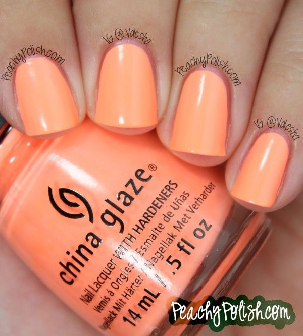"China Glaze ""Son Of A Peach"" - Peachy Polish"