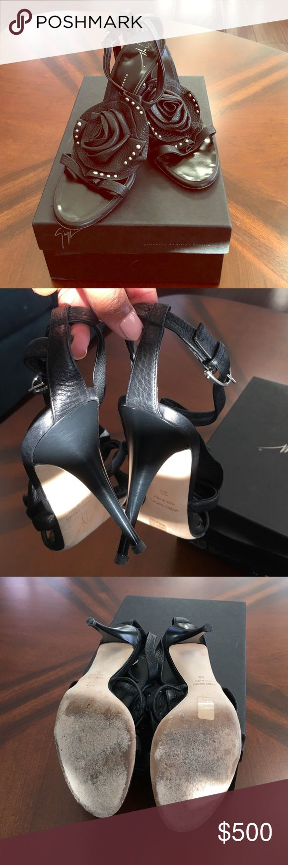 Giuseppe Zanotti Design GIUSEPPE ZANOTTI TAZ SANDALO LEATHER. Gently worn. Box and dust bag included Giuseppe Zanotti Shoes Heels