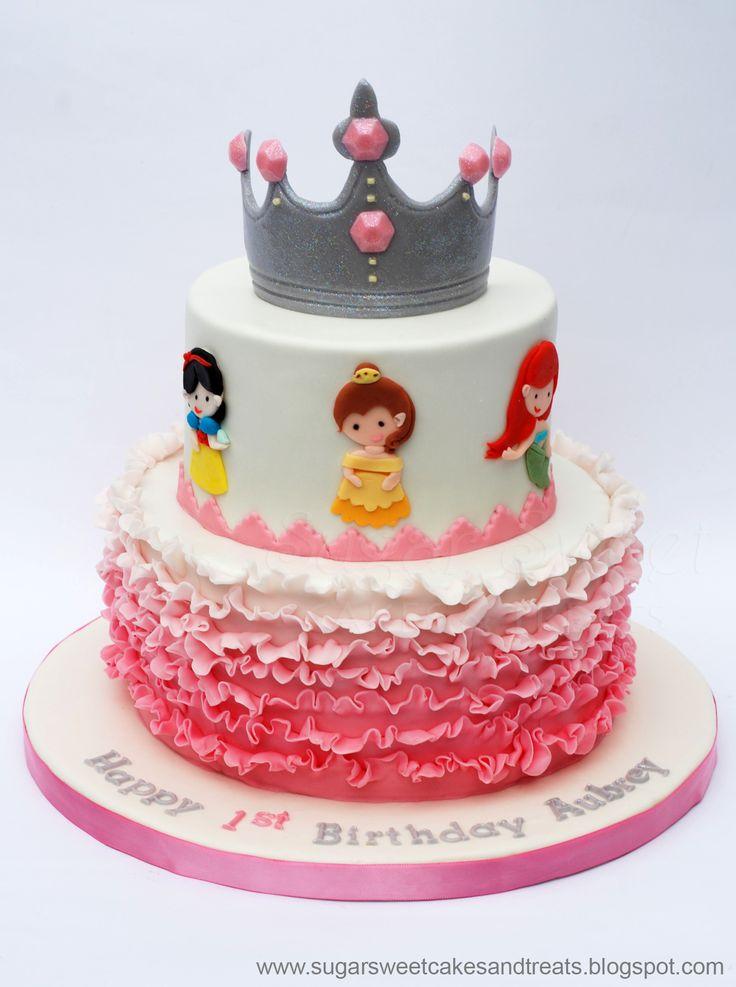 Ombre Ruffled Princess Cake