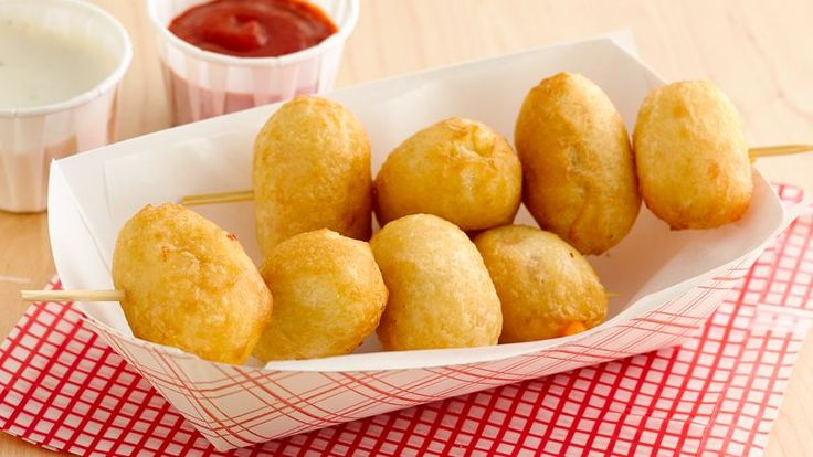 Cheese curds wrapped in crescent dough and deep fried--an easy way to create a State Fair favorite, right in your own home!