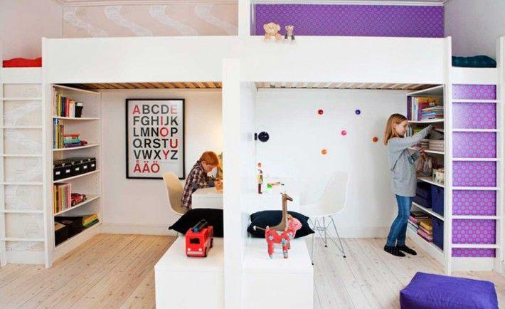 Детская комната для двоих разнополых детей: секреты правильного зонирования пространства   Ivybush