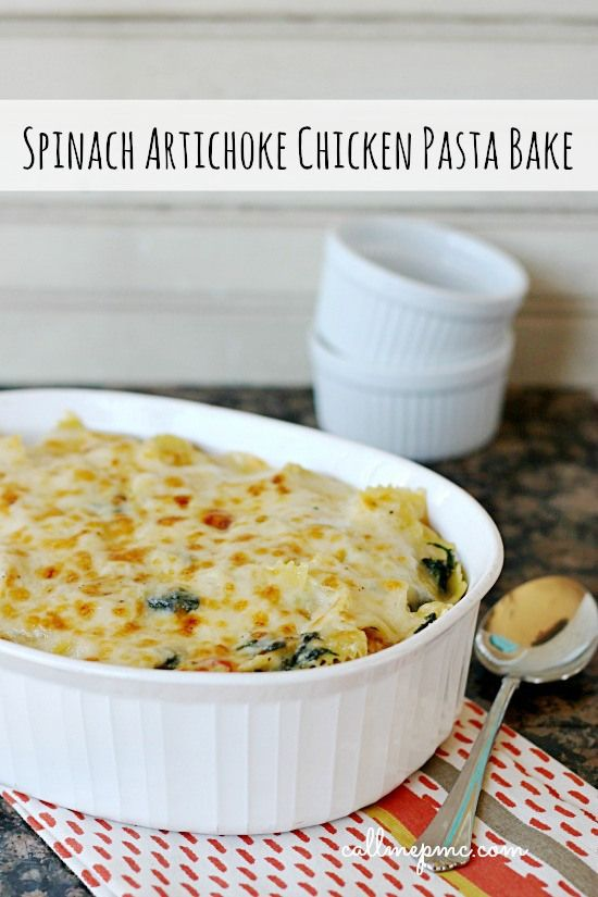 Spinach Artichoke Chicken Pasta is all the delciousness of the dip turned into a main dish! You'll love this!