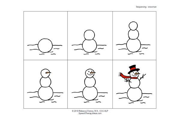 Snowman Sequencing Activities