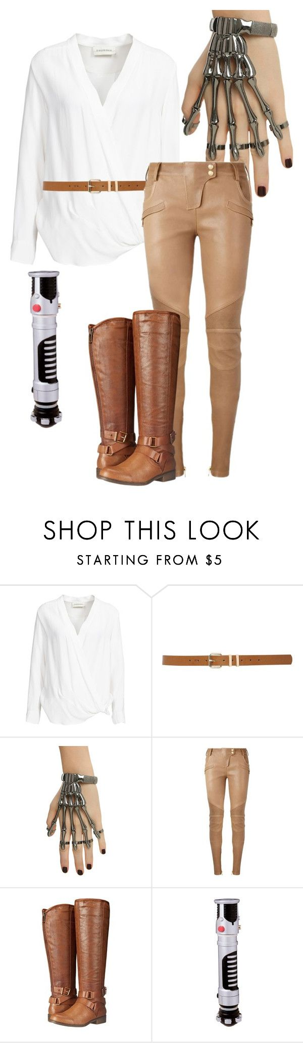 """Luke Skywalker"" by alaska1025 ❤ liked on Polyvore featuring By Malene Birger, M&Co, Balmain, Madden Girl and Rubie's Costume Co."