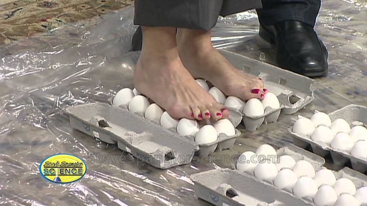 Walking on Eggs - Cool Science Experiment