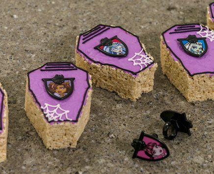 How-To Make Monster High Crispy Rice Coffin Treats                                                                                                                                                                                 More