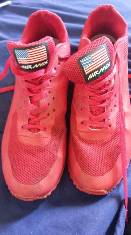 Nike Air Max Herren Sneaker Schuhe Rot Gr. 43