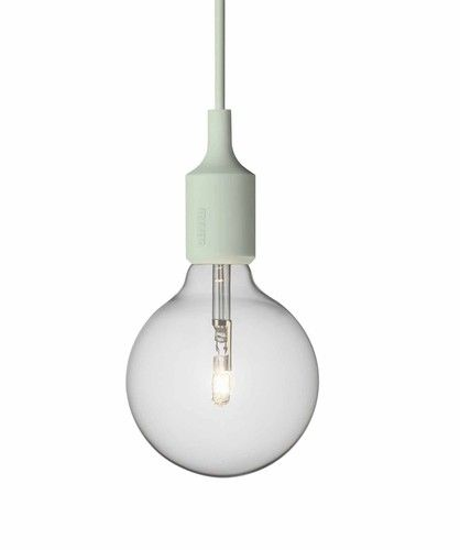 Lovely Muuto E Socket Lamp Hanglamp Light Green